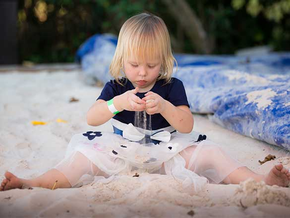 Child Playing in the sandbox